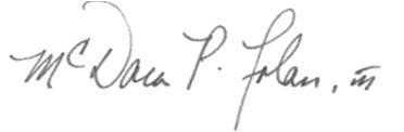 McDara P. Folan signature