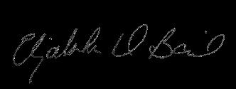 Elizabeth D. Baird signature